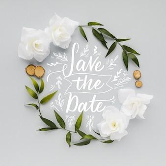 Enregistrez le concept de lettrage de date