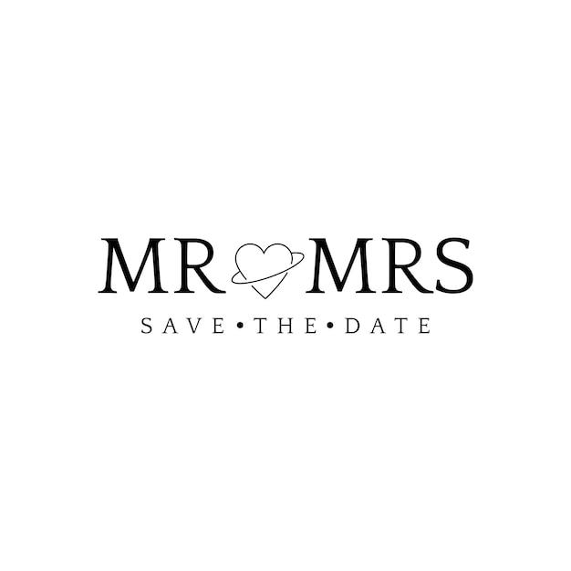 Enregistrez le vecteur de conception de badge invitation de mariage date