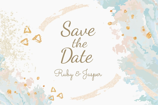 Enregistrez le vecteur d'invitation de mariage de date