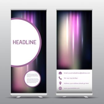 Enrouler bannières publicitaires avec la conception abstraite