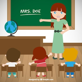 Enseignant et élèves