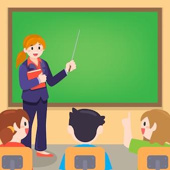 Enseignant et étudiant en cours à la salle de classe