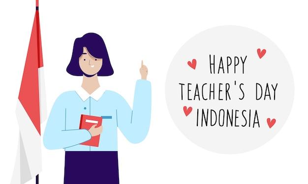 Enseignante célébrant la journée nationale des enseignants