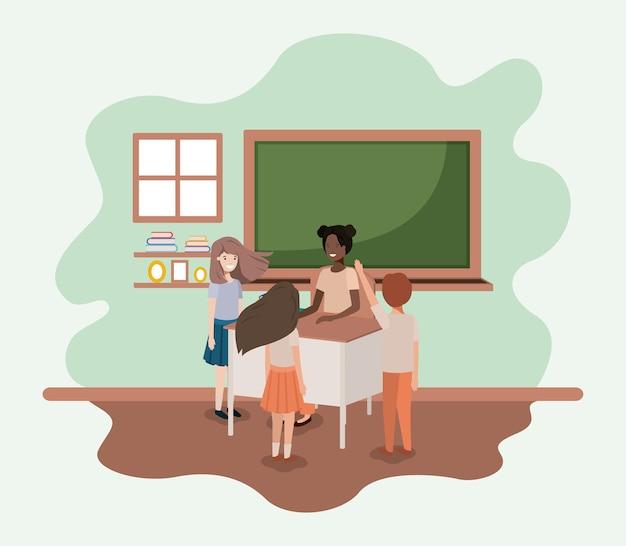 Une enseignante noire en classe
