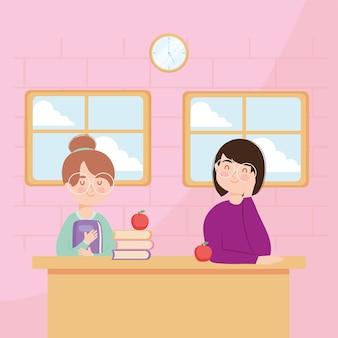 Enseignantes au bureau de l'école