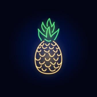 Enseigne d'ananas au néon