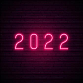 Enseigne au néon 2022 happy new year