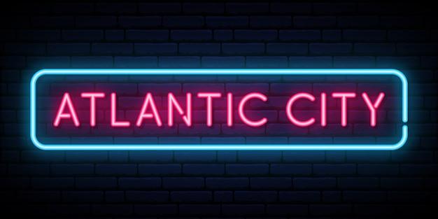 Enseigne au néon d'atlantic city.