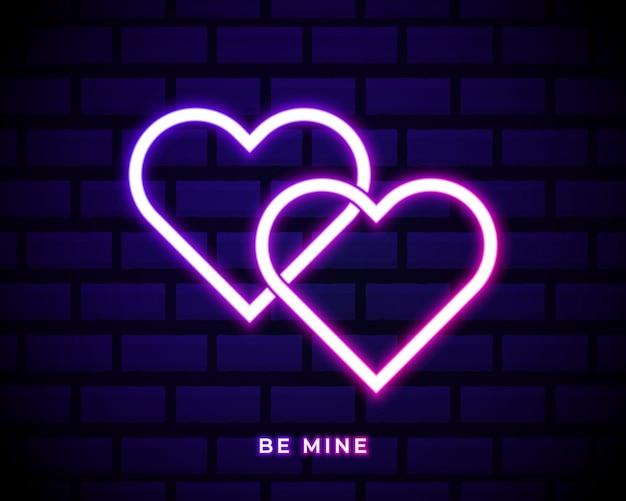 Enseigne au néon be mine valentine