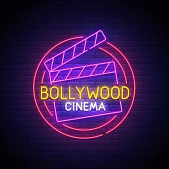 Enseigne au néon de bollywood