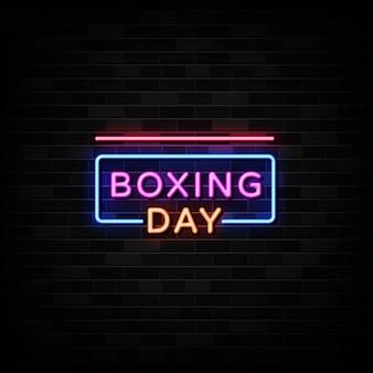 Enseigne au néon boxing day