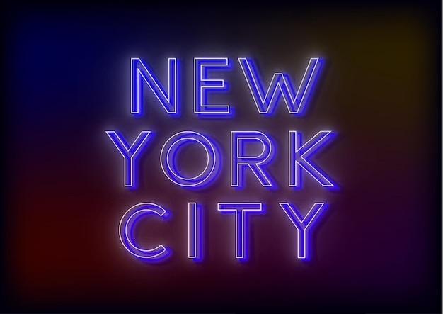 L'enseigne au néon bright attire l'attention d'une enseigne lumineuse disant new york citi