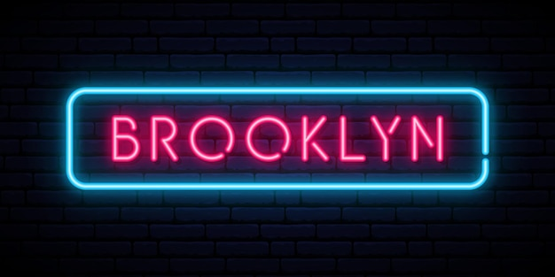 Enseigne au néon de brooklyn