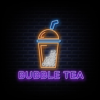 Enseigne au néon bubble tea logo