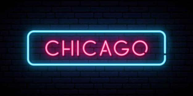 Enseigne au néon de chicago.