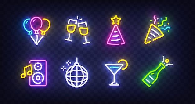 Enseigne au néon de fête