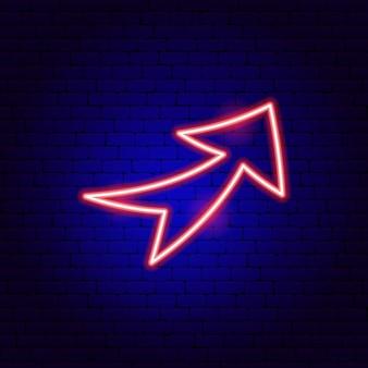Enseigne au néon de flèche 8. illustration vectorielle de la promotion de la direction.