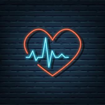 Enseigne au néon de fréquence cardiaque