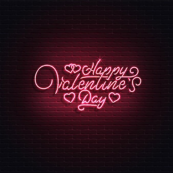 Enseigne au néon, happy valentine's day