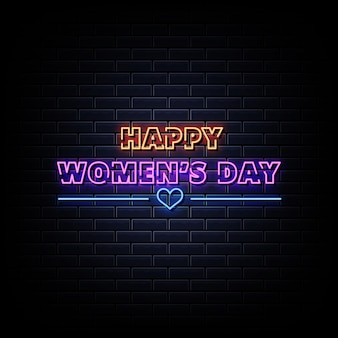 Enseigne au néon happy women's day