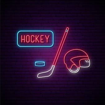 Enseigne au néon de hockey