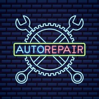 Enseigne au néon de l'industrie automobile