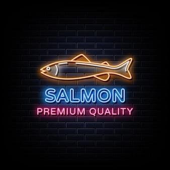 Enseigne au néon logo saumon