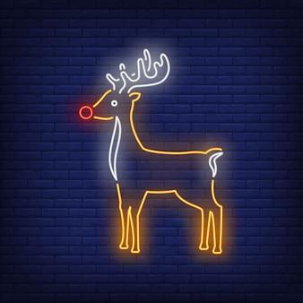Enseigne au néon mignon rennes