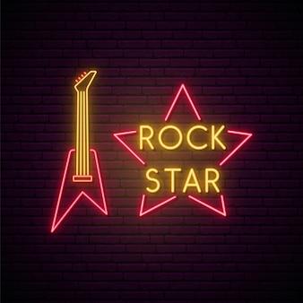 Enseigne au néon de musique rock.