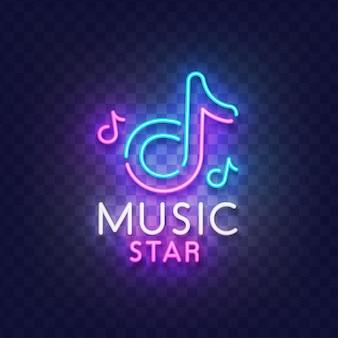 Enseigne au néon de musique