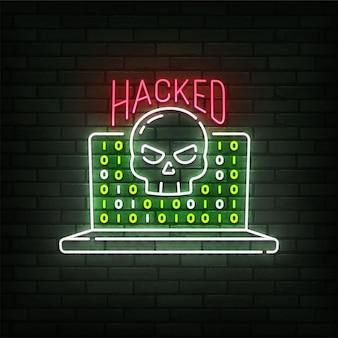 Enseigne au néon piraté
