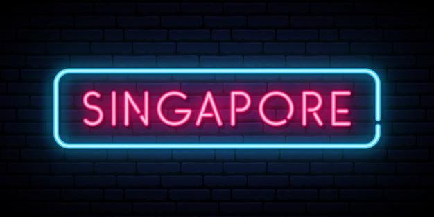 Enseigne au néon de singapour.