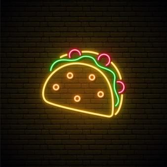 Enseigne au néon taco.