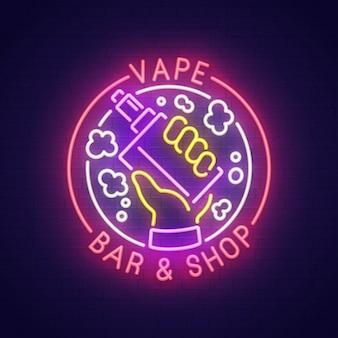 Enseigne au néon vape bar
