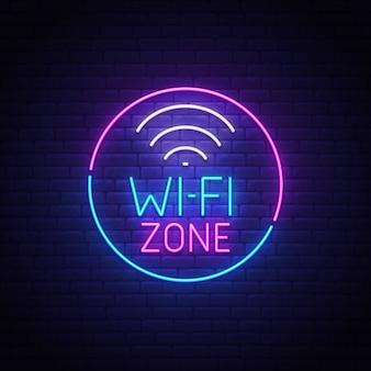 Enseigne au néon wi-fi