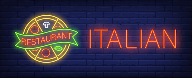 Enseigne au restaurant italien