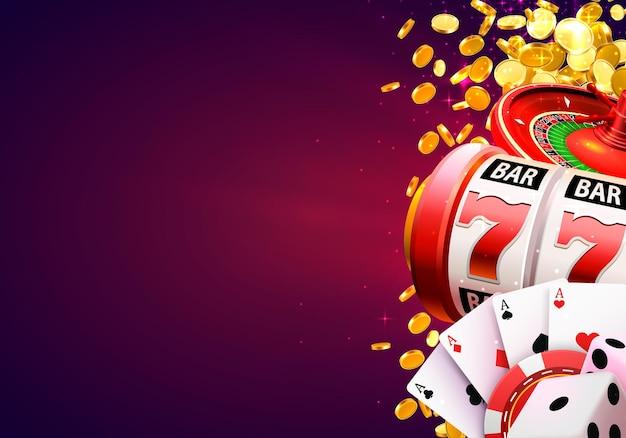 Enseigne de bannière de gagnant de casino sur fond. illustration vectorielle