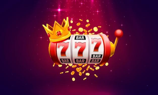 Enseigne de bannière de gagnant de machine à sous de casino. illustration vectorielle
