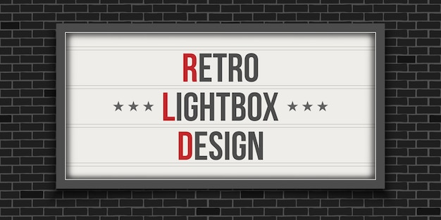 Enseigne de cinéma rougeoyante, théâtre rétro lightbox.