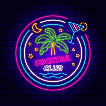 Enseigne de club de cocktail au néon