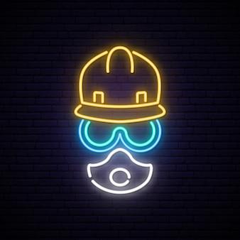Enseigne de constructeur de néon.