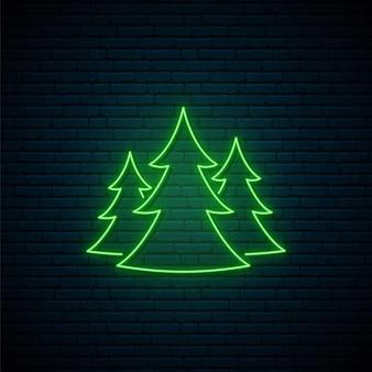 Enseigne de forêt au néon