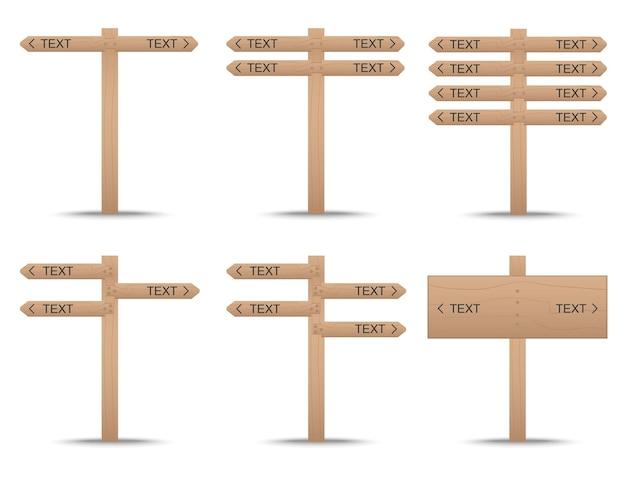 Enseigne en forme de bois avec poteaux