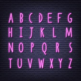 Enseigne lettres néon