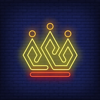Enseigne lumineuse couronne