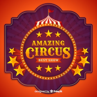 Enseigne lumineuse vintage circus