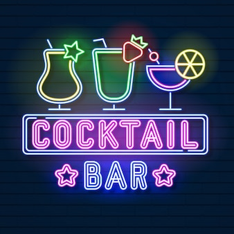 Enseigne néon cocktail
