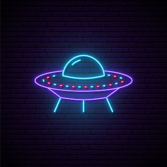 Enseigne néon ufo.