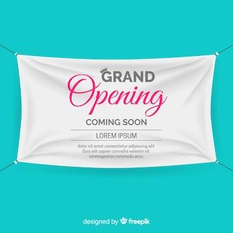 Enseigne réaliste textile inauguration