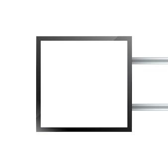 Enseigne rectangulaire, boîte à lumière